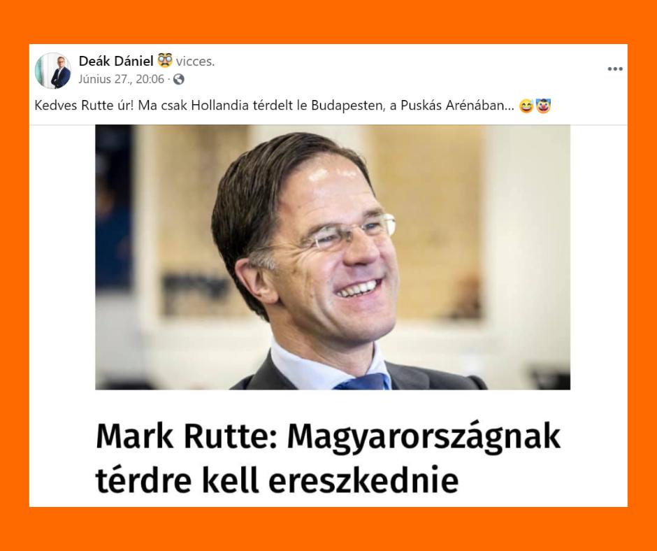 Kormányzati káröröm - Deák Dániel - Mark Rutte