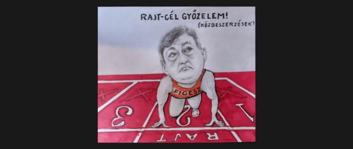 Szórád Péter - karikatúra
